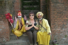 Tibetan Holy Men with Pam. It only costs $5.00